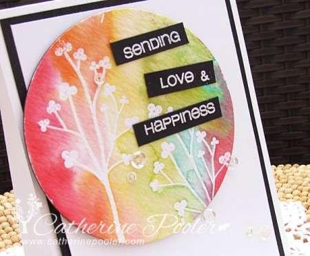 Watercolor Clear Emboss Resist Card