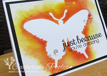 Blog June 11 Colorwashed butterfly