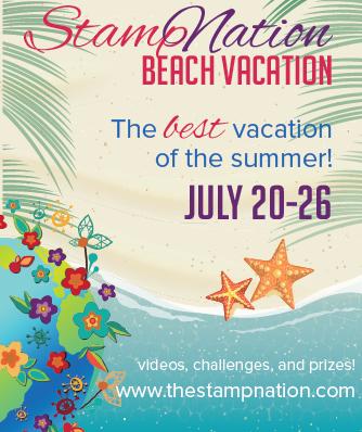 SN beach vacation button