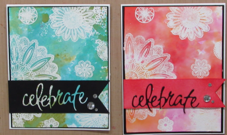 Stampin' Up inks vs. Distress Inks