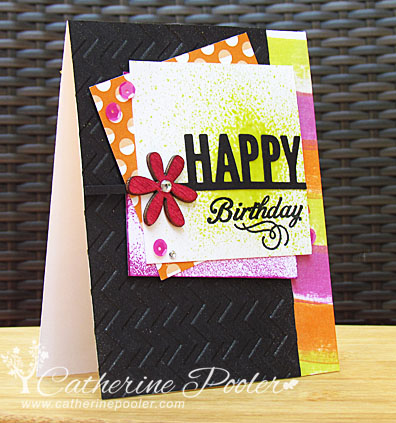 Layered Card with Imagine Crafts sprays and inks