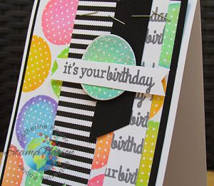 Reverse Confetti StampNation card