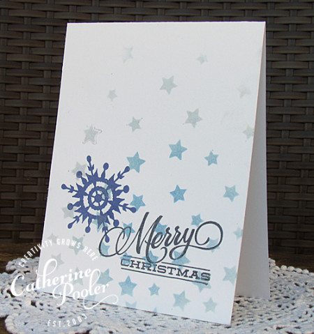 One Layer Christmas Card with Stencils