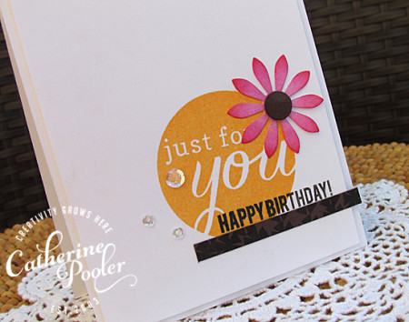 Flower Embellishment Happy Birthday KISS Card