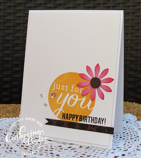 Flower Embellishment KISS Birthday Card 2