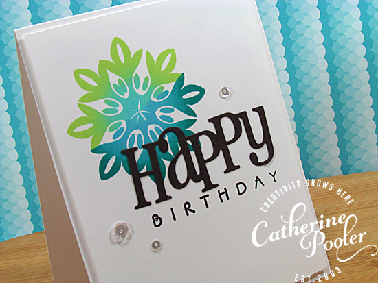 Ombre Stamping Hand Made Birthday Card 2