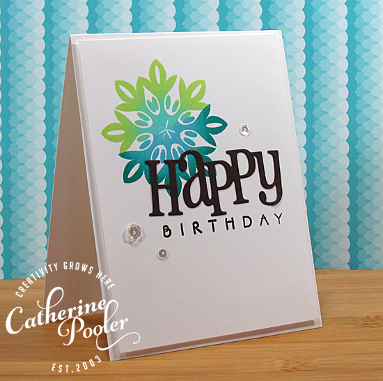 Ombre Stamping Hand Made Birthday Card