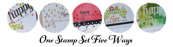 one stamp set five ways