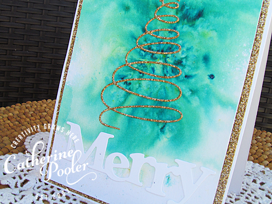Brusho Watercolored Background with Whimsy Catherine Pooler