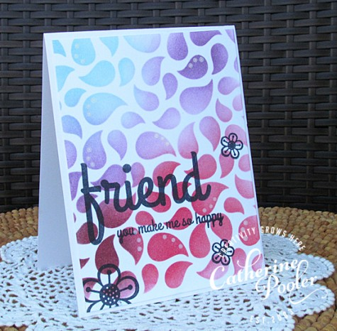 Eva's Stenciled Card
