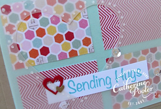 Patterned Paper Cut and Flipped