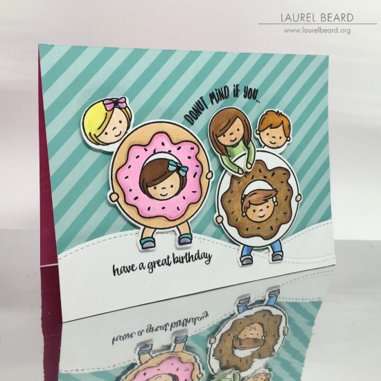 So Donut Stamps Are All The Rage Right Now And This Card By Laurel Beard Is Absolutely Darling Those Little Kiddos Peeking Out From Donuts Too CUTE