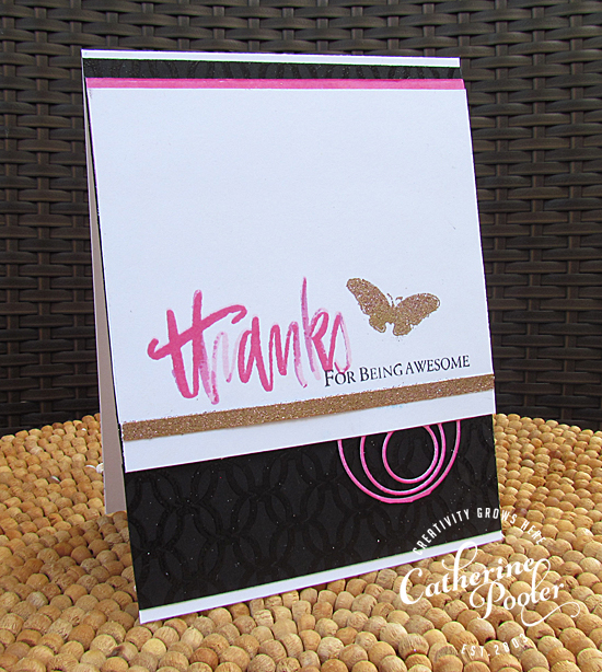 Embossing Glitter with Stamp of Approval
