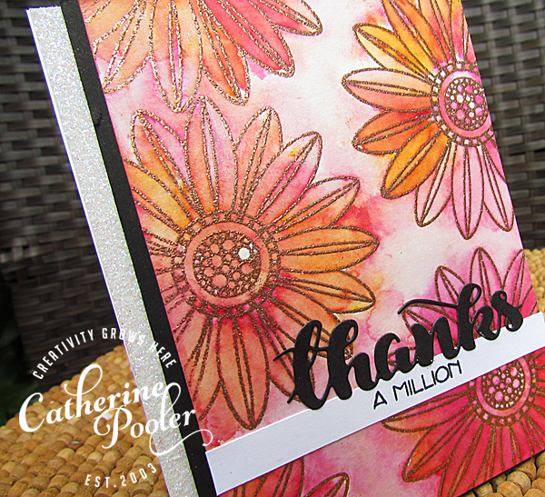 Sparkle Embossing and Brusho