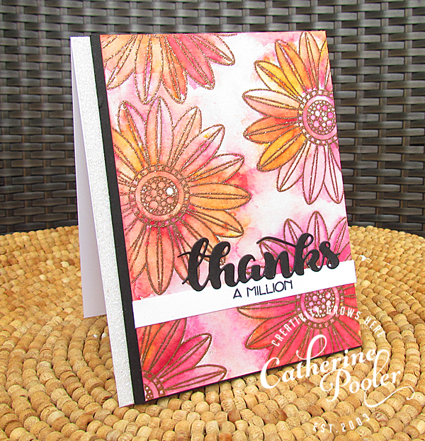 Sparkle Embossing and Brusho 3