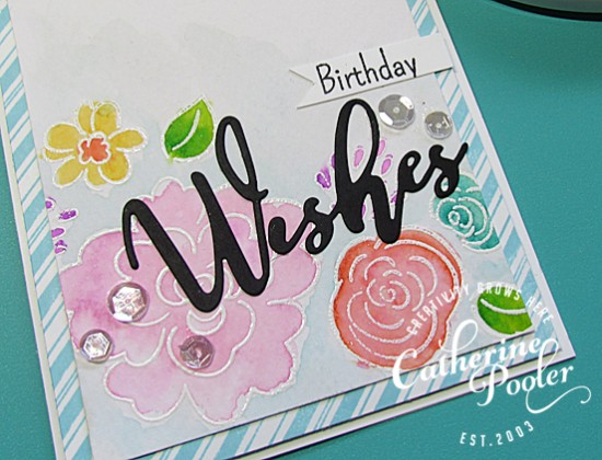 Happy Birthday Watercolor and Embossed Card 2