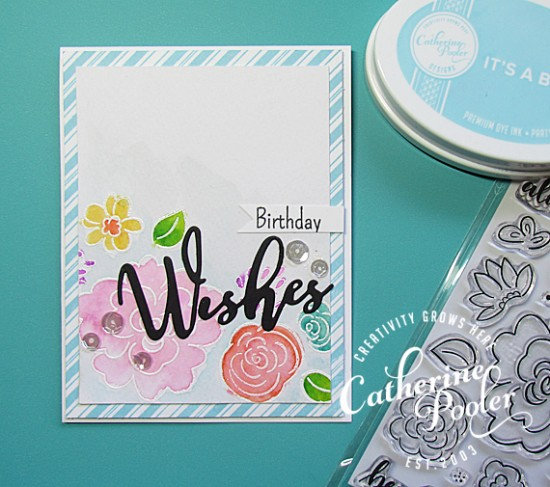 Happy Birthday Watercolor and Embossed Card