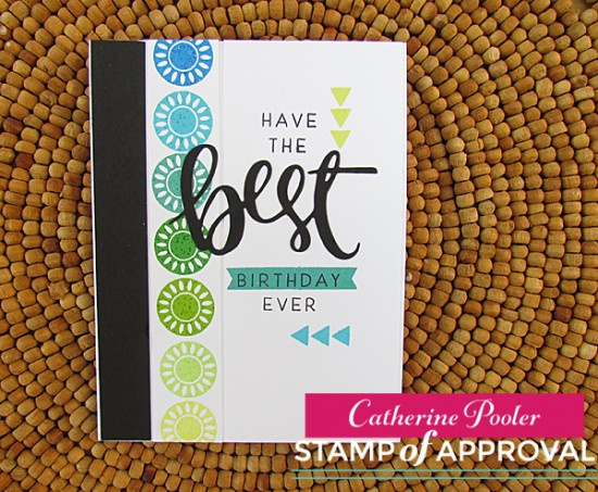 Masculine Card with Stamp of Approval