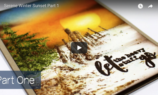 Creating a Winter Sunset Scene