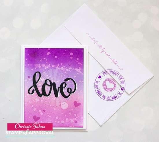 Chrissie Tobas Love is in the Air Card Env
