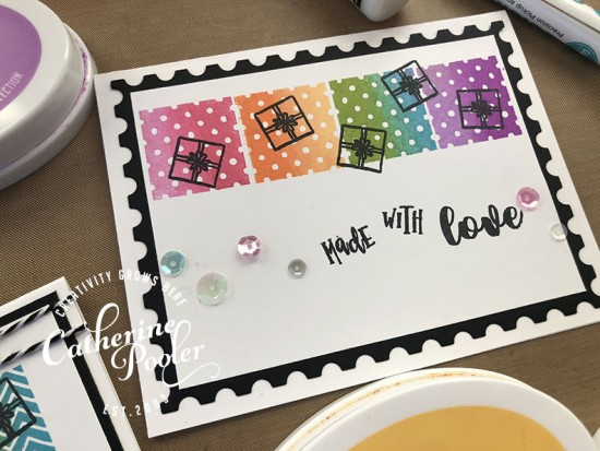 Ink Blended Stamp Happy Birthday Card 2