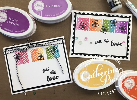 Ink Blended Stamp Happy Birthday Card