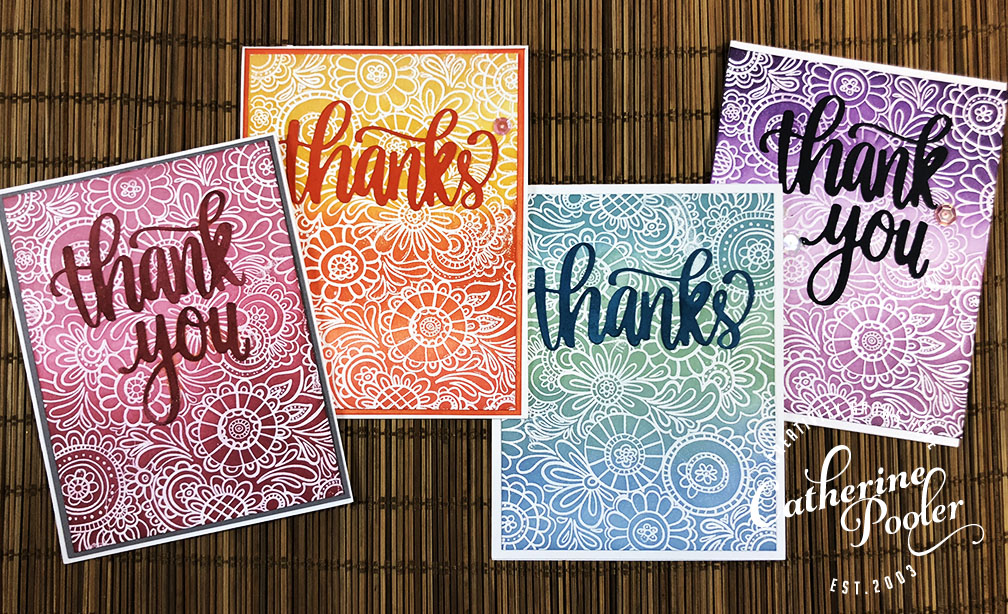 Emboss Resist Thank you Cards Save the Youtuber