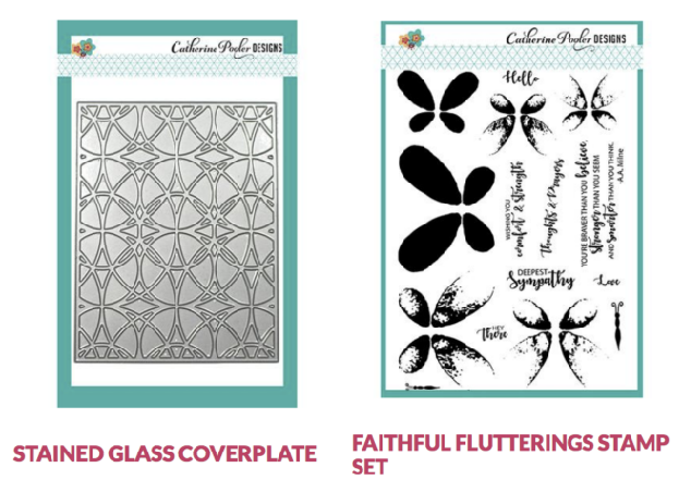 Faithful Flutterings and Stained Glass coverplate