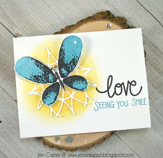 Jen Carter Faithful Flutterings Butterfly Love Grows Stained Glass
