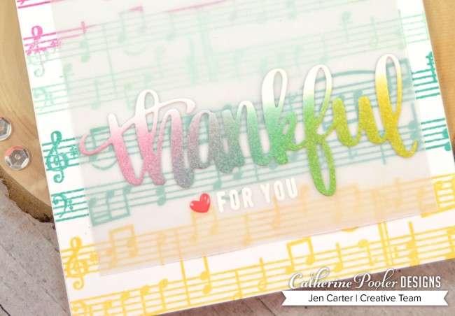 Jen Carter Music Rainbow Thankful Closeup