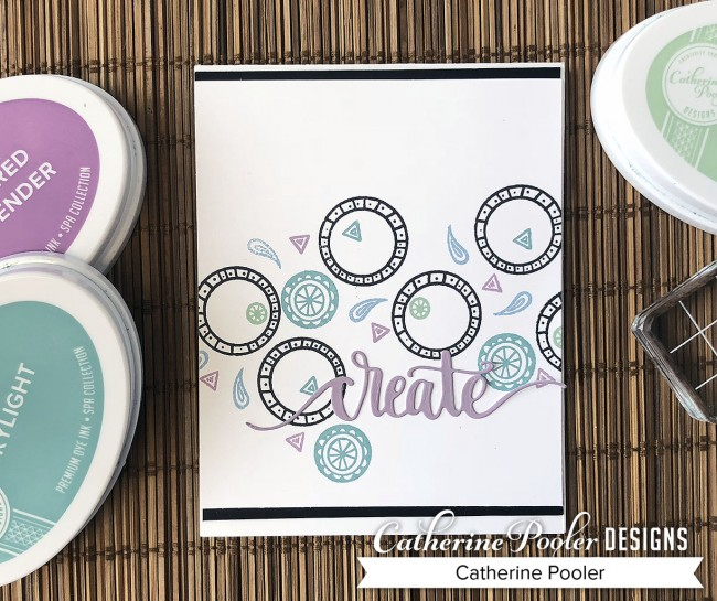 Simple Stamped Card in Spa Colors 2