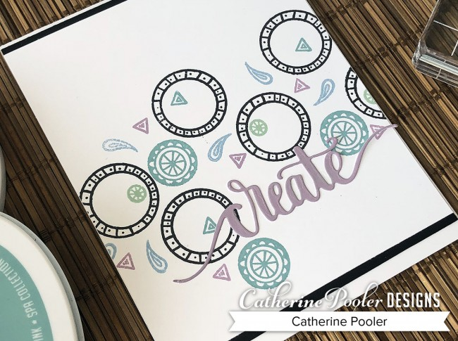 Simple Stamped Card in Spa Colors
