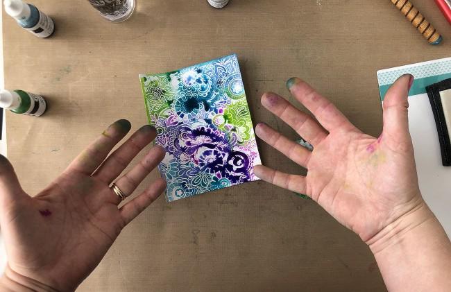 inky doodle fingers