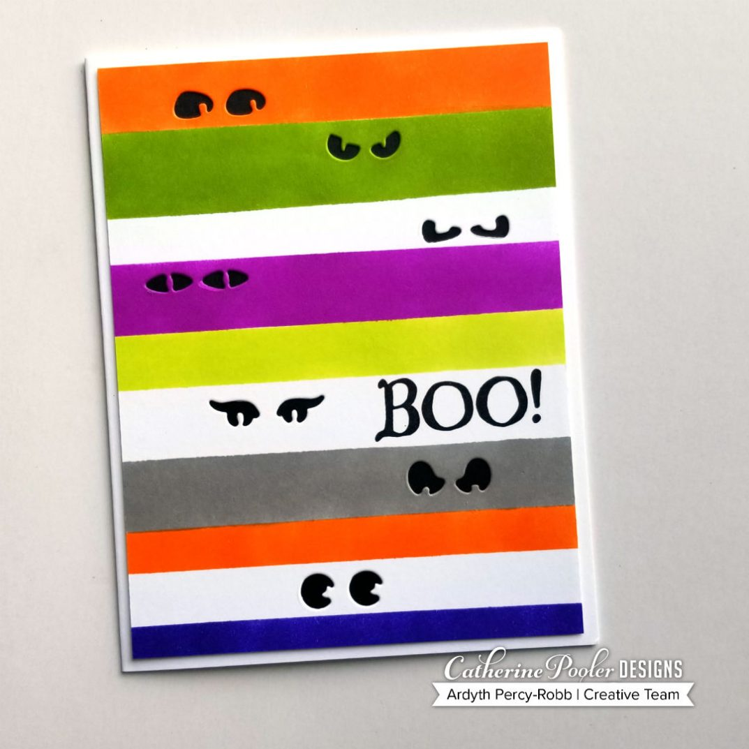 who's there cover plate halloween card with ardyth - catherine