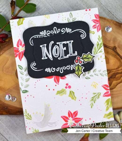 handmade noel Christmas card