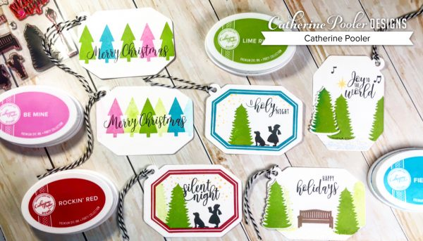 Hand Stamped Holiday Gift Tag Examples